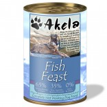 Akela Grain-Free Complete Wet Working Dog Food Fish Feast 375g VAT FREE