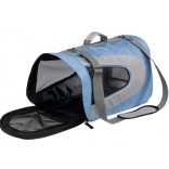 Blue Fabric Cat Carrier Ferplast Beauty Medium Also For Small Dogs