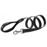 Ferplast Giotto Padded Leather Dog Lead 20mm x 120cm Black