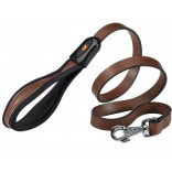 Ferplast Giotto Padded Leather Dog Lead 20mm x 120cm Brown