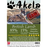 Akela Frozen Raw Complete Working Dog Food 85:15 Lamb 500g