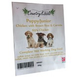Country Kibble Wet Chicken & Rice Working Dog Puppy Food 10 Trays VAT FREE