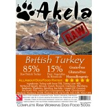 Akela Frozen Raw Complete Working Dog Food 85:15 Turkey 500g