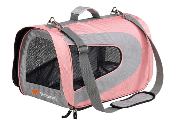 Pink Fabric Cat Carrier Ferplast Beauty Medium Also For Small Dogs