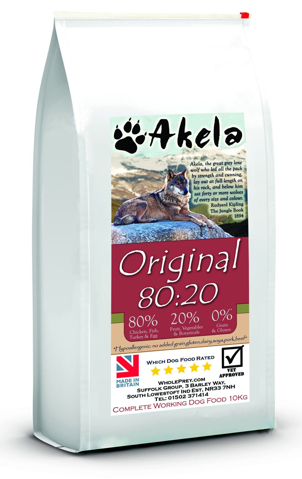 Akela 80 20 Original Grain Free Working Dog Food Sample